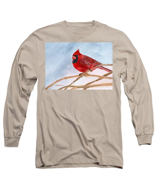 Long Sleeve T-Shirt featuring the painting A Touch Of Red by Lynne Reichhart