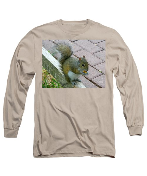 A Two-nut Lunch Long Sleeve T-Shirt by Mariarosa Rockefeller