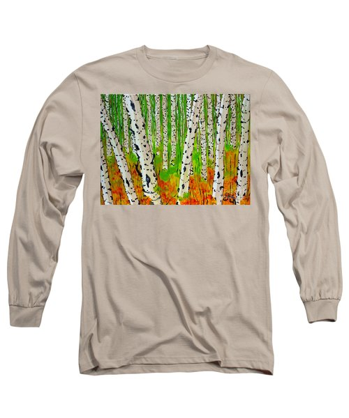 A Walk Though The Trees Long Sleeve T-Shirt by Jackie Carpenter