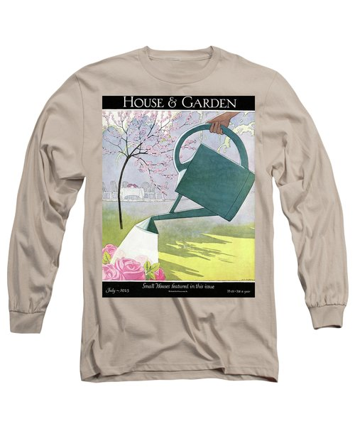A Watering Can Above Pink Roses Long Sleeve T-Shirt