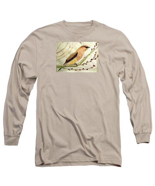A Waxwing In The Orchard Long Sleeve T-Shirt