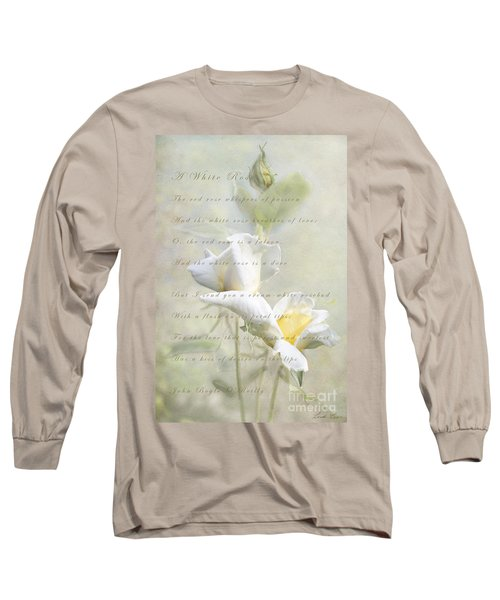 A White Rose Long Sleeve T-Shirt by Linda Lees