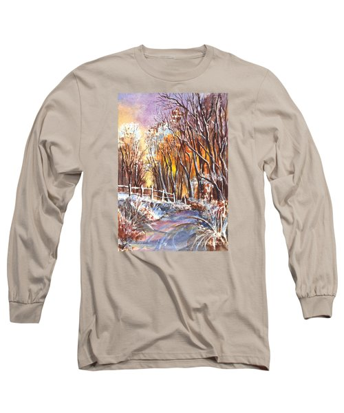 A Firey Winter Sunset Long Sleeve T-Shirt