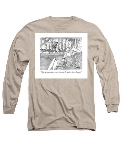 A Woman With A  Gun Waits In The Car As A Man Long Sleeve T-Shirt
