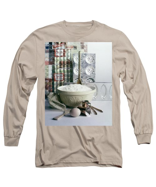 A Wooden Spoon In A Bowl Of Flour Long Sleeve T-Shirt