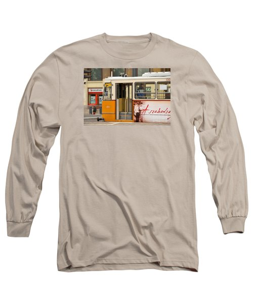 A Yellow Tram On The Streets Of Budapest Hungary Long Sleeve T-Shirt by Imran Ahmed
