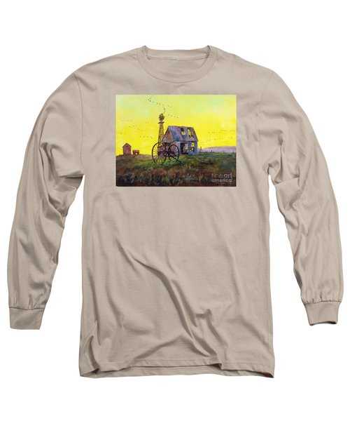 Abandoned  Farm Long Sleeve T-Shirt by Lee Piper