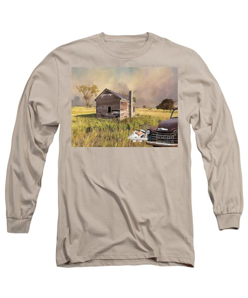 Long Sleeve T-Shirt featuring the photograph Abandoned by Liane Wright