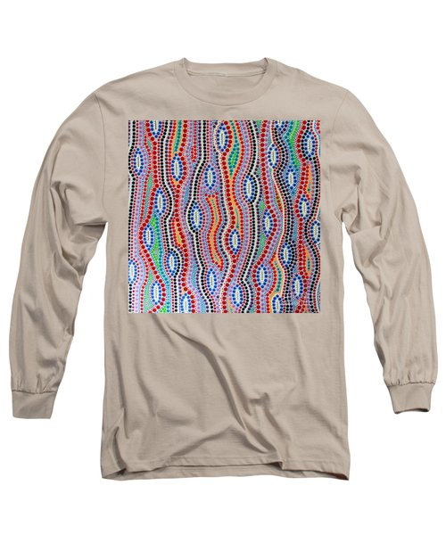 Long Sleeve T-Shirt featuring the painting Aboriginal Inspirations 2 by Mariusz Czajkowski