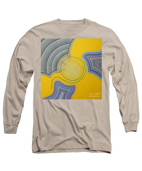 Long Sleeve T-Shirt featuring the painting Aboriginal Inspirations 35 by Mariusz Czajkowski
