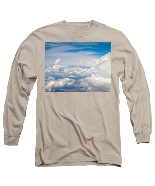 Above The Clouds Over Texas Image B Long Sleeve T-Shirt by Byron Varvarigos