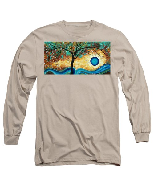 Abstract Art Contemporary Painting Summer Blooms By Madart Long Sleeve T-Shirt