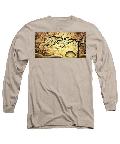 Abstract Art Metallic Gold Original Landscape Painting Colorful Diamond Jubilee By Madart Long Sleeve T-Shirt