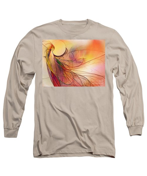 Abstract Art Print Sunday Morning Sidewalk Long Sleeve T-Shirt