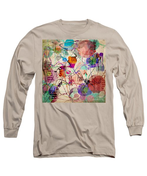 Long Sleeve T-Shirt featuring the digital art Abstract Expressionism by Phil Perkins