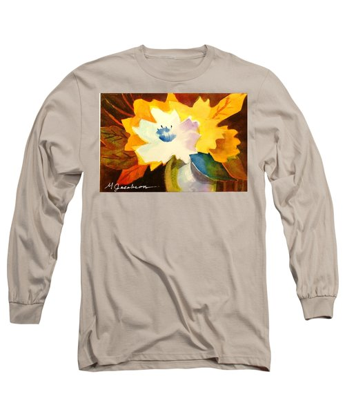 Long Sleeve T-Shirt featuring the painting Abstract Flowers 2 by Marilyn Jacobson