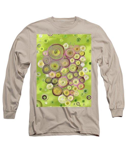 Abstract Grapes Long Sleeve T-Shirt by Veronica Minozzi