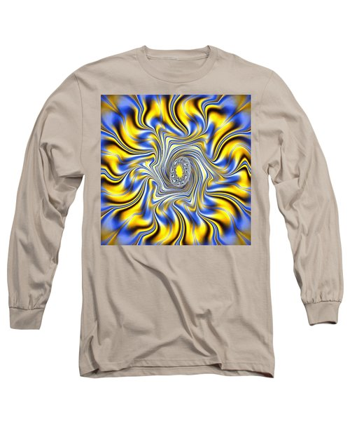 Abstract Spun Flower Long Sleeve T-Shirt