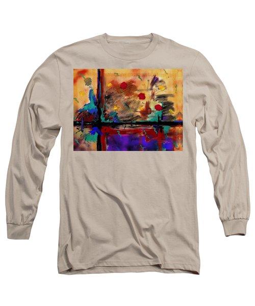 Abstract Yellow Horizontal Long Sleeve T-Shirt