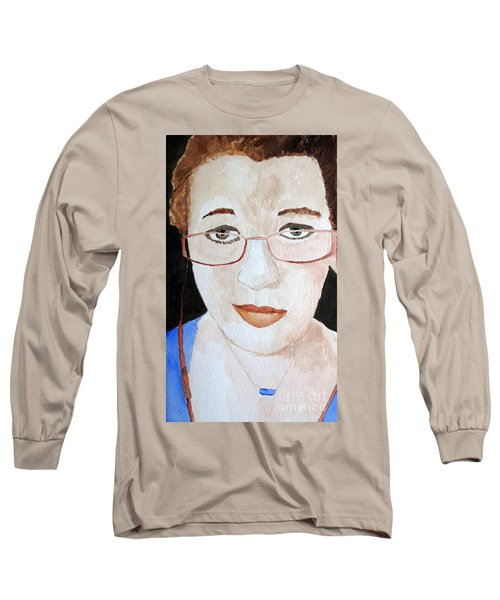 Long Sleeve T-Shirt featuring the painting Addie Two by Sandy McIntire