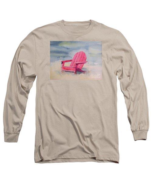 Adirondack At The Beach Long Sleeve T-Shirt by Ranjini Kandasamy
