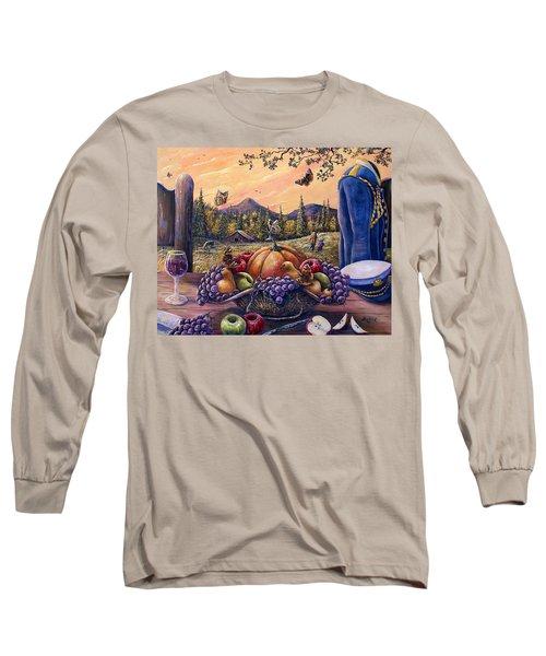 Admirals Harvest Long Sleeve T-Shirt by Gail Butler