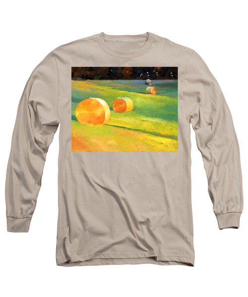 Advance Mills Hall Bales Long Sleeve T-Shirt by Catherine Twomey