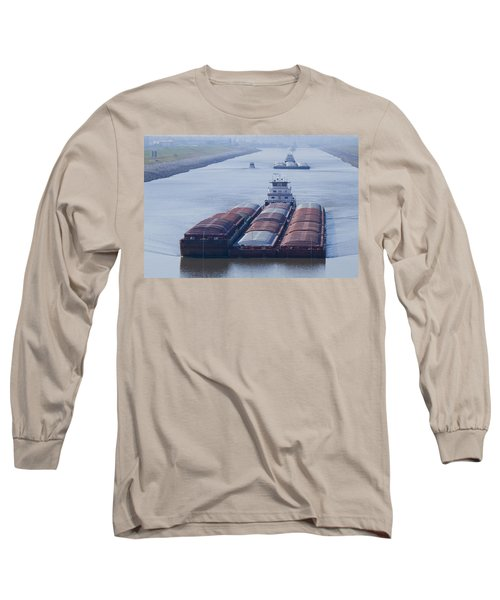 Aep Tow Passing Through The Chain Of Rocks Canal Long Sleeve T-Shirt by Garry McMichael