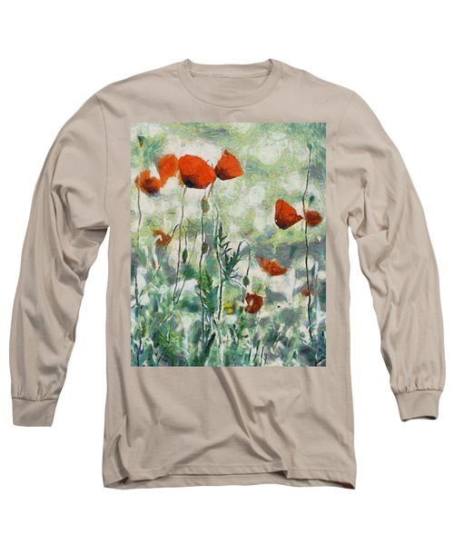 Long Sleeve T-Shirt featuring the painting Affection by Joe Misrasi