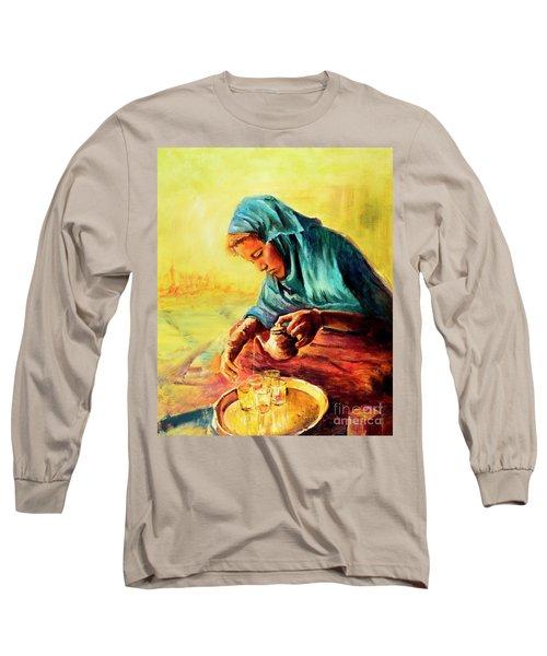 African Chai Tea Lady. Long Sleeve T-Shirt