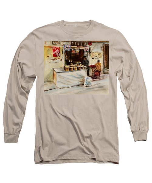 African Corner Store Long Sleeve T-Shirt by Sher Nasser