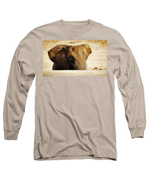 African Elephant Behind A Hill Long Sleeve T-Shirt