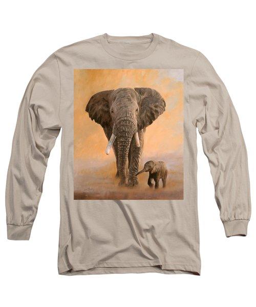 African Elephants Long Sleeve T-Shirt