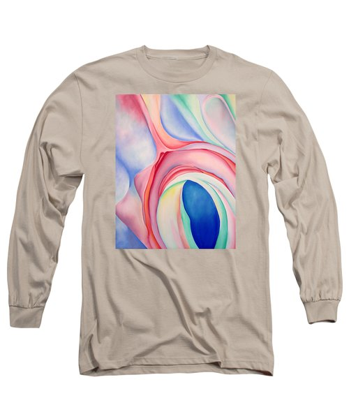 Long Sleeve T-Shirt featuring the painting After Okeffee by Joshua Morton