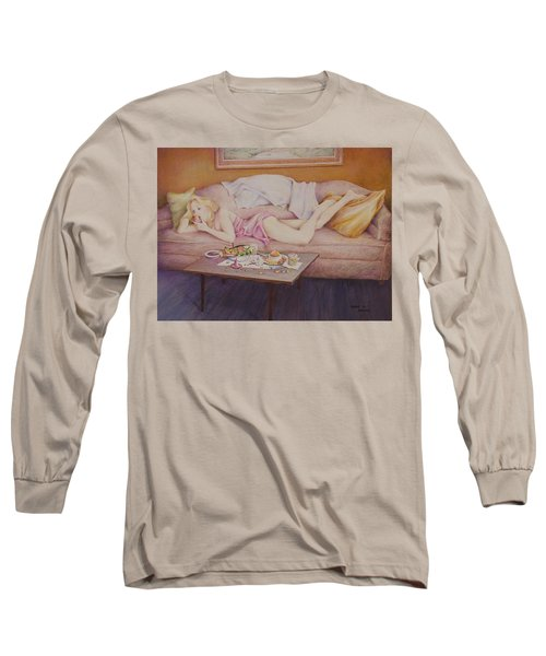 Lucky Couch Long Sleeve T-Shirt by Duane R Probus