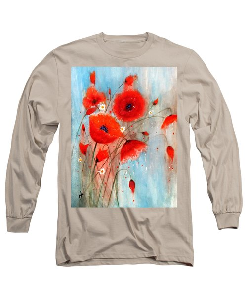 Long Sleeve T-Shirt featuring the painting After The Rain.. by Cristina Mihailescu