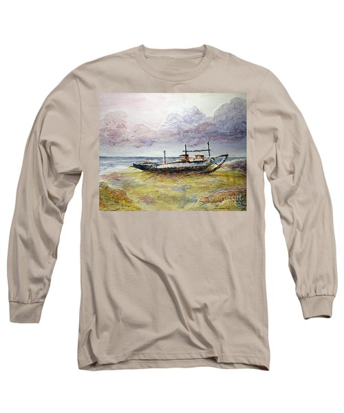 Long Sleeve T-Shirt featuring the painting After The Storm by Joey Agbayani