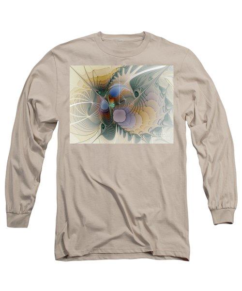 Airy Space-fractal Art Long Sleeve T-Shirt