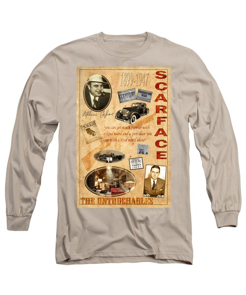 Al Capone Long Sleeve T-Shirt by Andrew Fare