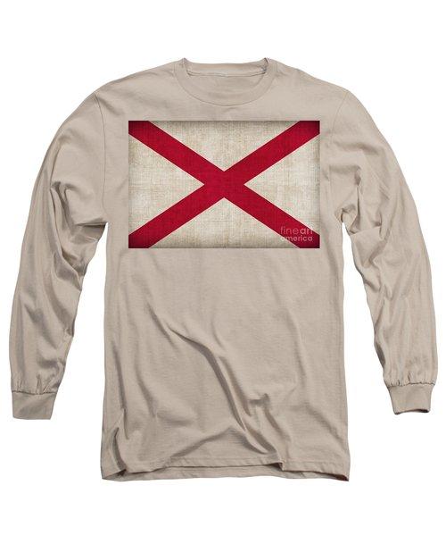 Alabama State Flag Long Sleeve T-Shirt