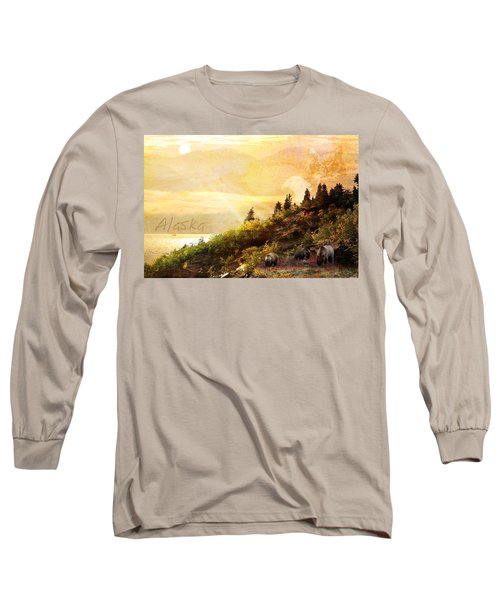 Long Sleeve T-Shirt featuring the photograph Alaska Montage by Ann Lauwers