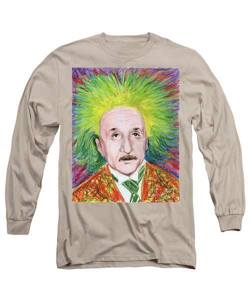 Albert Einstein Long Sleeve T-Shirt by Yoshiko Mishina