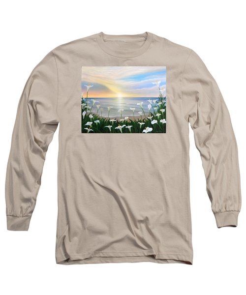Alcatraces Long Sleeve T-Shirt by Angel Ortiz