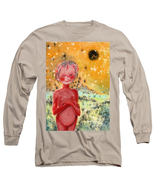 Long Sleeve T-Shirt featuring the painting Alien by Carol Jacobs