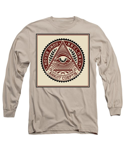 Long Sleeve T-Shirt featuring the digital art All Seeing Eye by Vagabond Folk Art - Virginia Vivier