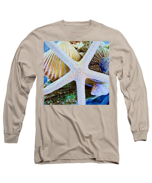 All The Colors Of The Sea Long Sleeve T-Shirt by Colleen Kammerer