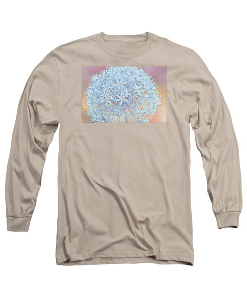 Long Sleeve T-Shirt featuring the digital art Allium Bursting by Susan  McMenamin