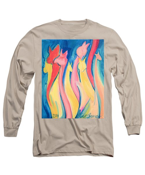 Alpaca Flames Long Sleeve T-Shirt