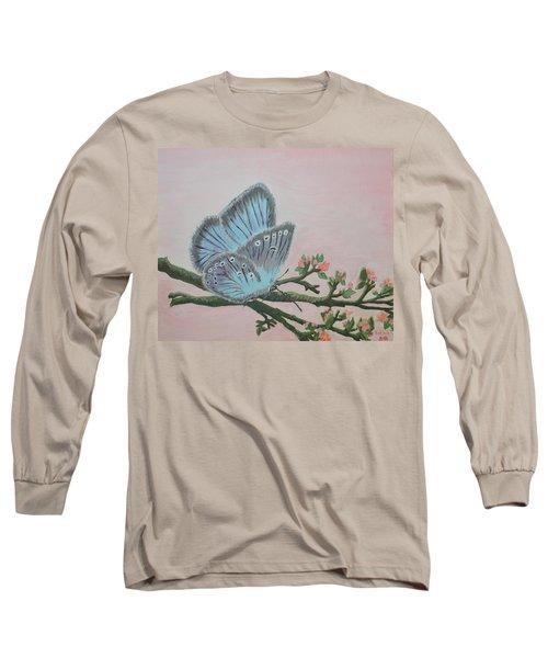 Amandas Blue Dream Long Sleeve T-Shirt by Felicia Tica