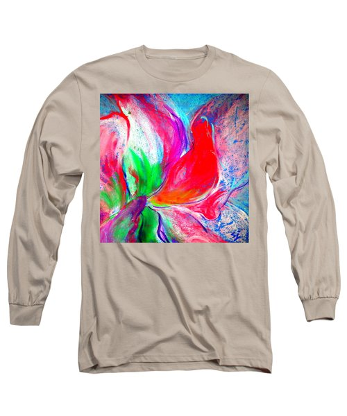 Funky Amaryllis Lily Long Sleeve T-Shirt